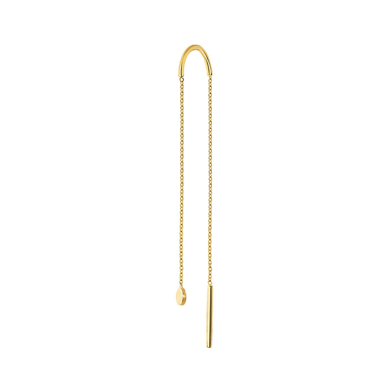 Long gold sphere chain earring, J04530-02-H, hi-res