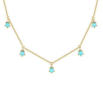 Collar piedras oro 9kt, J04707-02-TQ-WS, hi-res