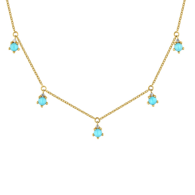 9kt gold stone necklace