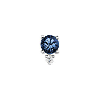 Pendiente zafiro y diamante oro blanco, J04073-01-BS-H, hi-res