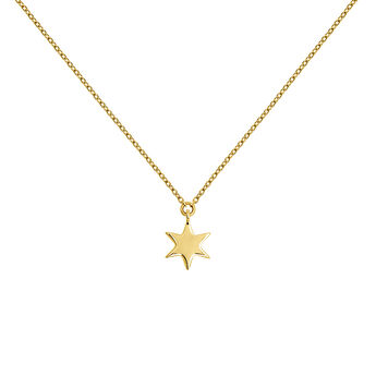 Gold star necklace, J03863-02, hi-res