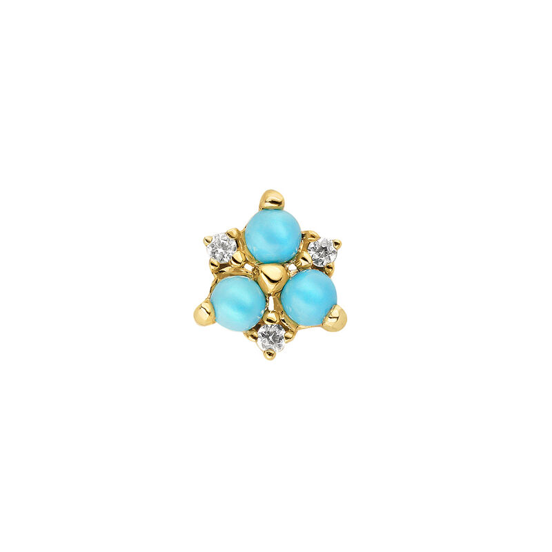 Pendiente mini piedras oro 9kt, J04700-02-TQ-WS-H, hi-res