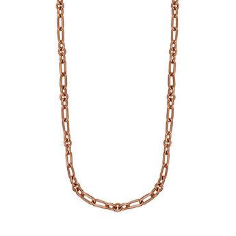 Cadena mix eslabón plata recubierta oro rosa, J01335-03, hi-res