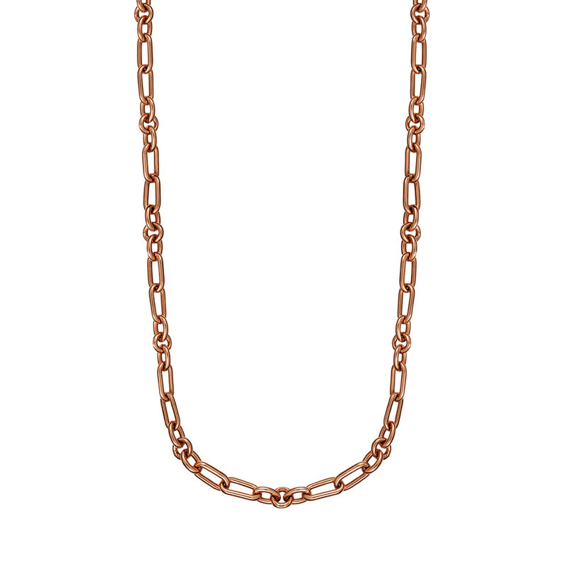 Rose gold plated mix links chain, J01335-03, hi-res