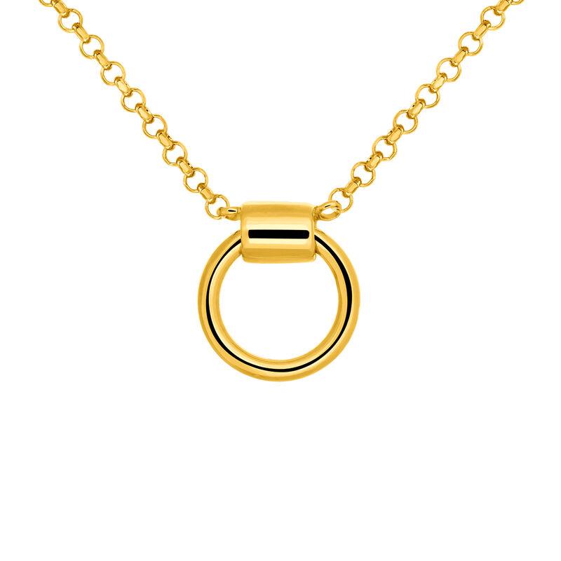 Gold hoop choker, J03477-02, hi-res