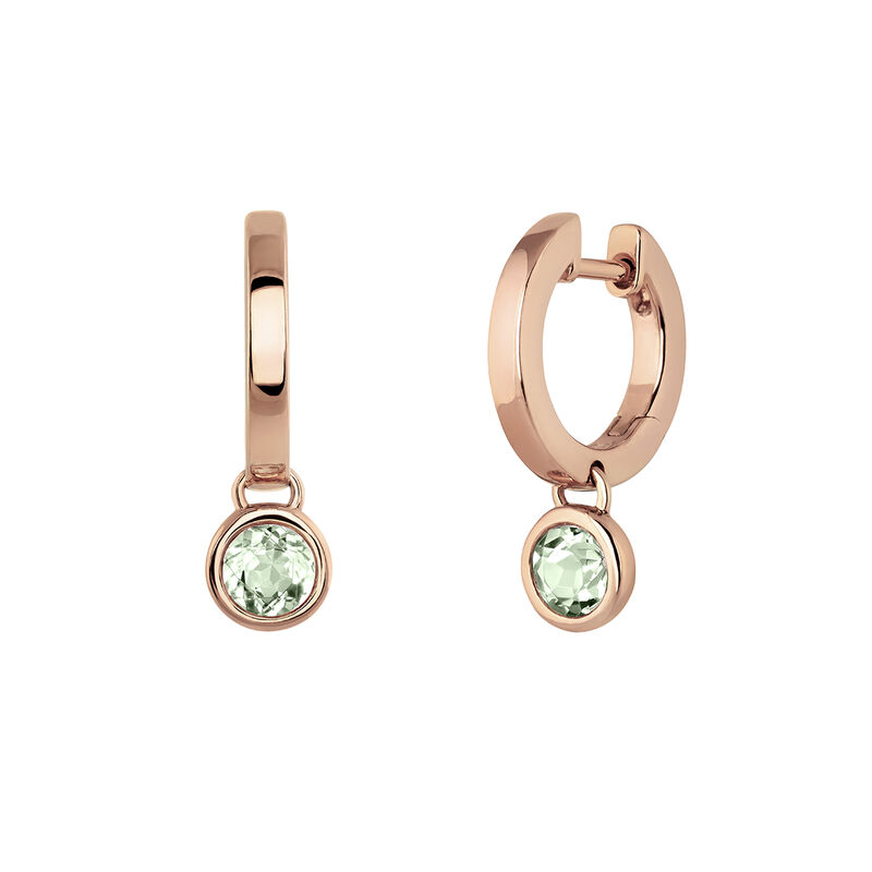 Small gold plated quartz hoop earrings, J03808-03-GQ, hi-res