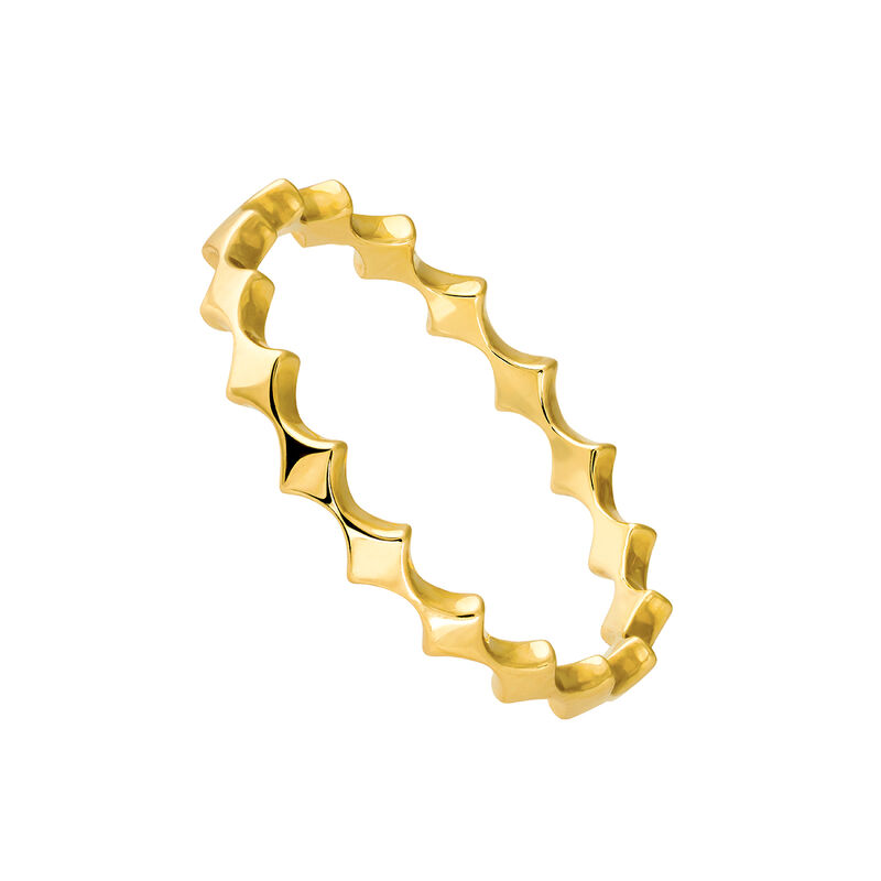 Gold ring with rhombuses, J03858-02, hi-res