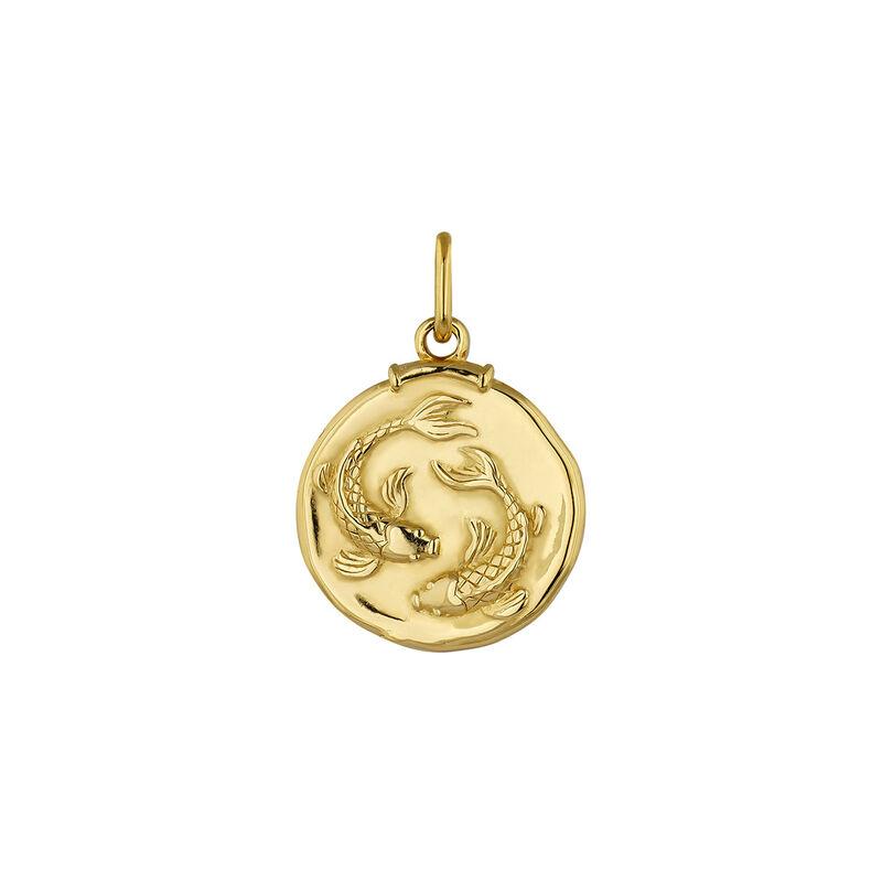 Pendentif poissons argent plaqué or, J04780-02-PIS, hi-res