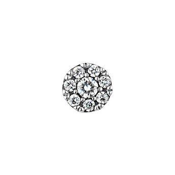 White gold 0.06 ct diamond rosette earring, J04208-01-06-H, hi-res