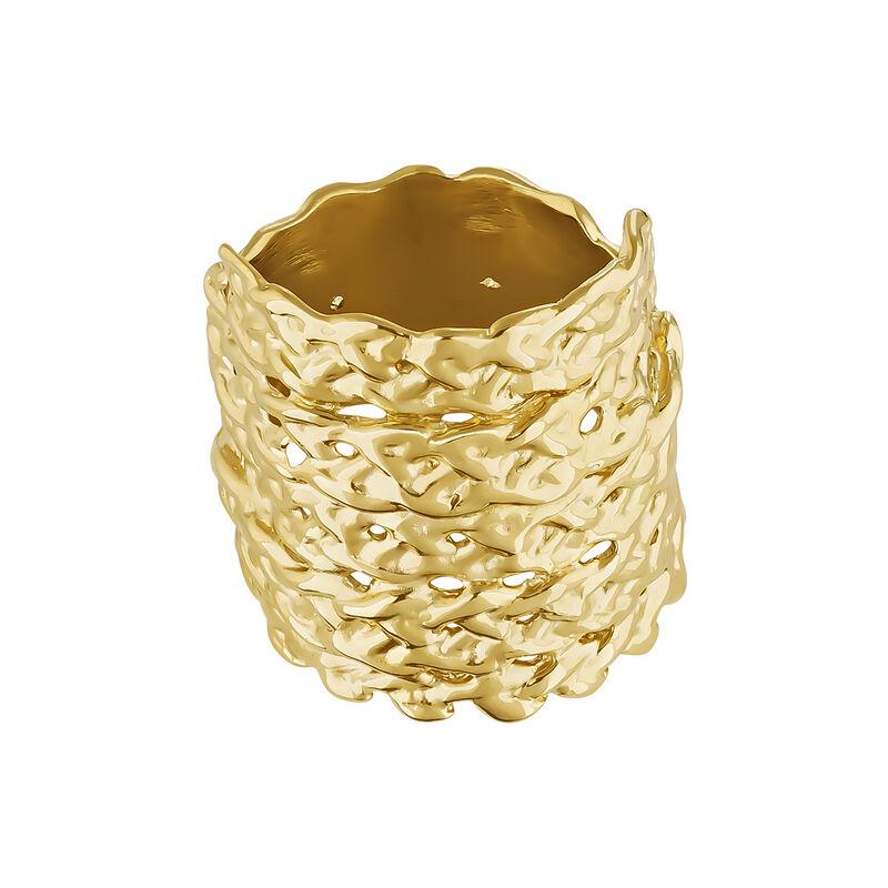 Bague en osier plaqué or, J04412-02, hi-res