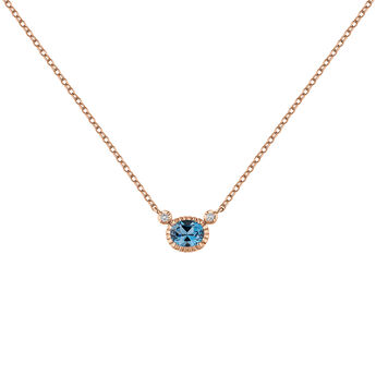 Collier topaze bleue argent plaqué or rose, J04667-03-LB-WT, hi-res