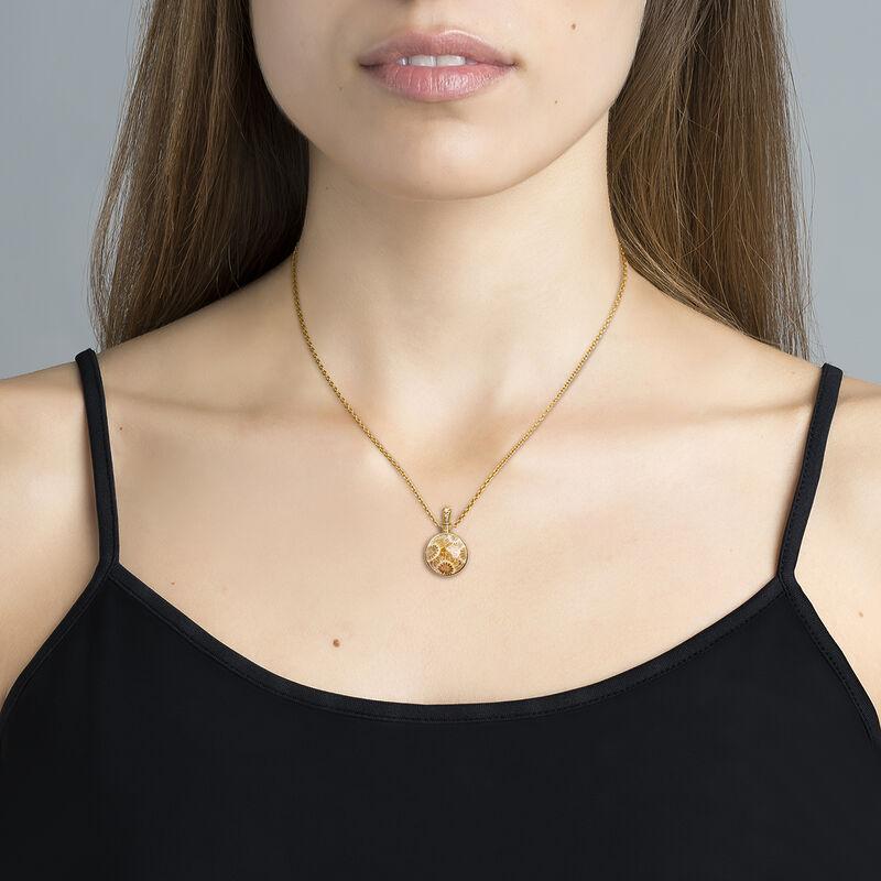 Collar coral plata recubierta oro, J04123-02-FOSC-WT, hi-res