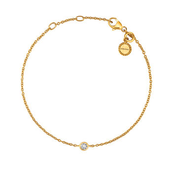 Pulsera chatón oro, J03437-02, hi-res