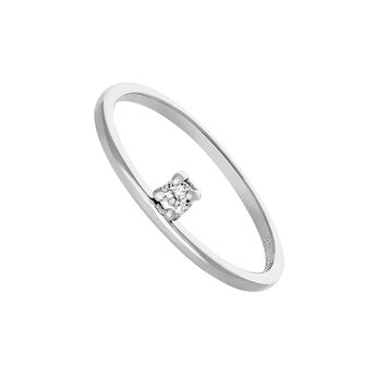 Silver ring with white topaz, J03684-01-WT, hi-res
