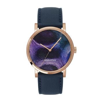 Reloj Watercolors azul marino, W45A-PKPKBU-LEBU, hi-res