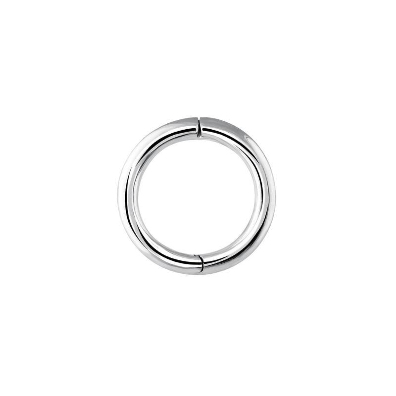 Pendiente piercing aro pequeño oro blanco, J03842-01-H, hi-res