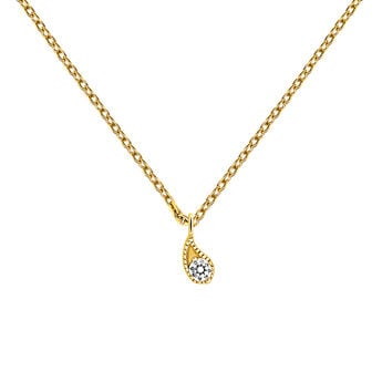 White gold diamond necklace, J03397-02, hi-res