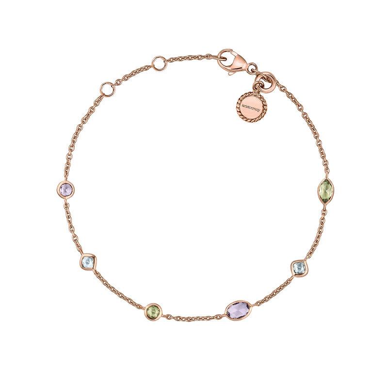 Pulsera mix piedras plata recubierta oro rosa, J03764-03-AMPESB, hi-res