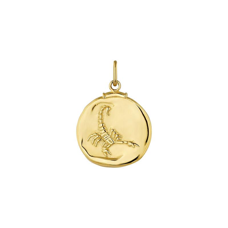 Charm escorpio plata recubierta oro