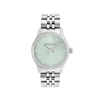 Montre St. Barth mini bracelet en acier sphère verte, W30A-STSTBU-AXST, hi-res