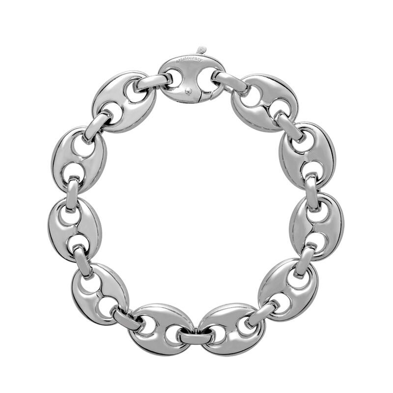 Pulsera calabrote pequeño plata, J01913-01, hi-res