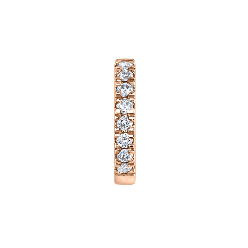 Mini pendiente aro diamantes oro rosa 0,03 ct, J04152-03-H, hi-res