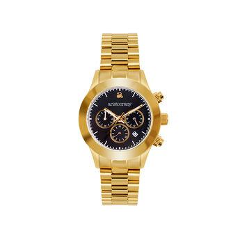 Soho watch gold bracelet black face., W29A-YWYWBL-AXYW, hi-res