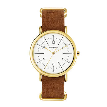 Camps Bay watch brown strap, W49A-YWYWWM-LECA, hi-res