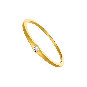 Gold topaz ring, J03683-02-WT, hi-res