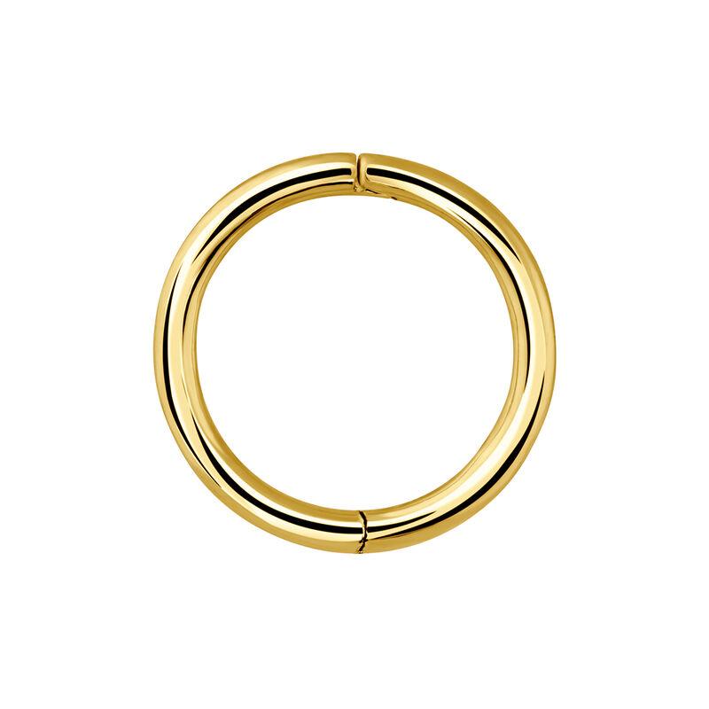 Large gold hoop earring piercing, J03844-02-H, hi-res