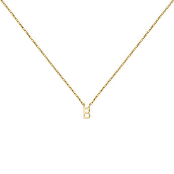 Gold Initial B necklace, J04382-02-B, hi-res