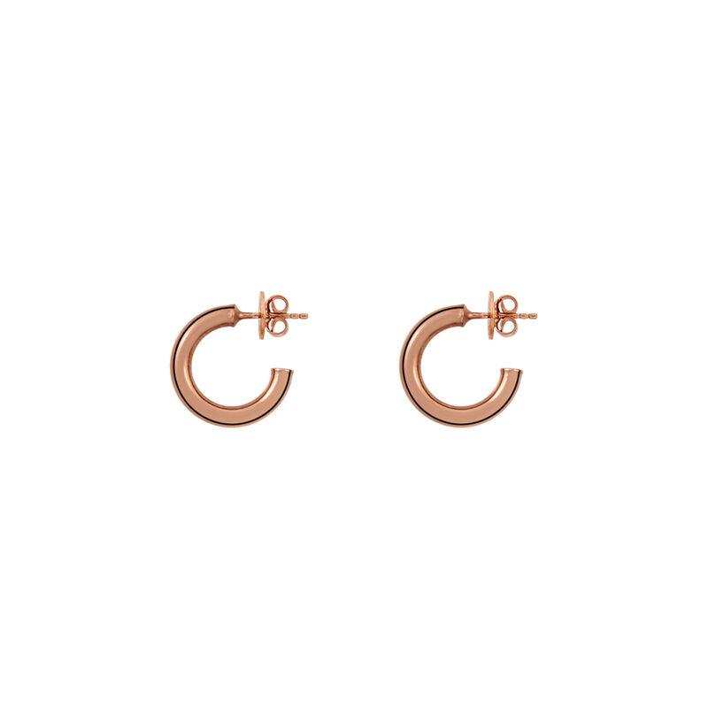 Pendientes aro liso pequeños oro rosa, J01585-03, hi-res