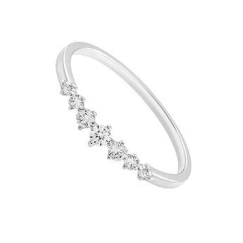 Anillo siete diamantes 0,13 ctoro blanco, J03349-01, hi-res