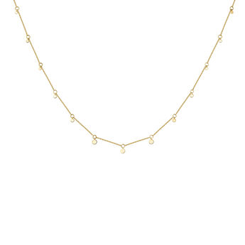 Gold sphere motifs necklace, J04543-02, hi-res