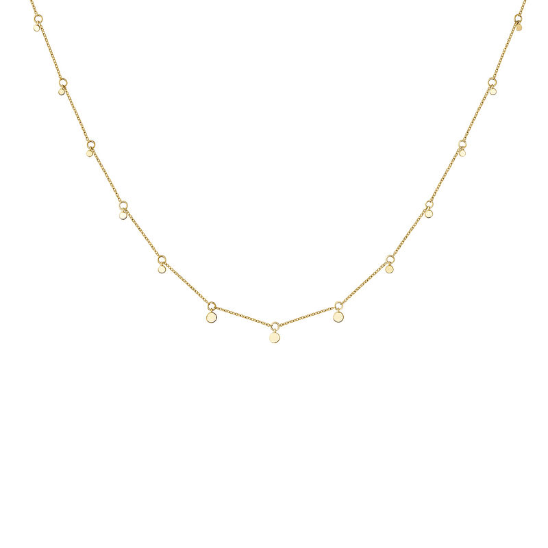 Gold sphere motifs necklace, J04543-02, hi-res