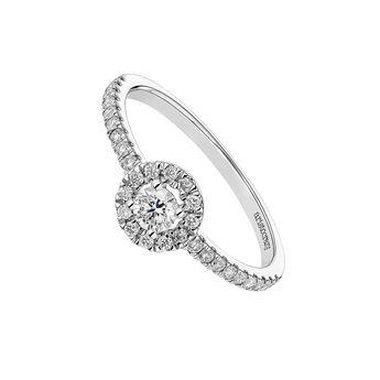 White gold ring edging diamond 0,15 ct, J04223-01-15-22, hi-res