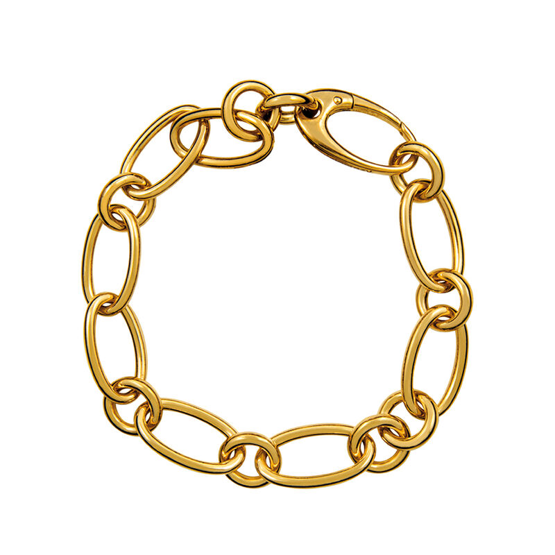 Pulsera mix eslabón oval oro, J01152-02, hi-res