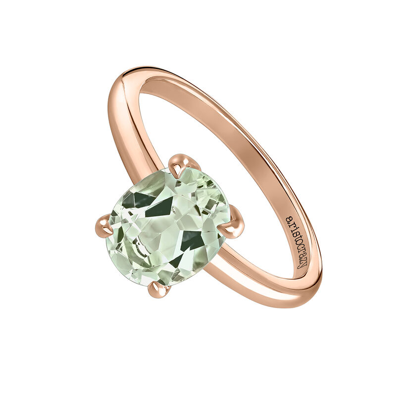 Medium oval rose gold  plated quartz Ring, J03817-03-GQ, hi-res