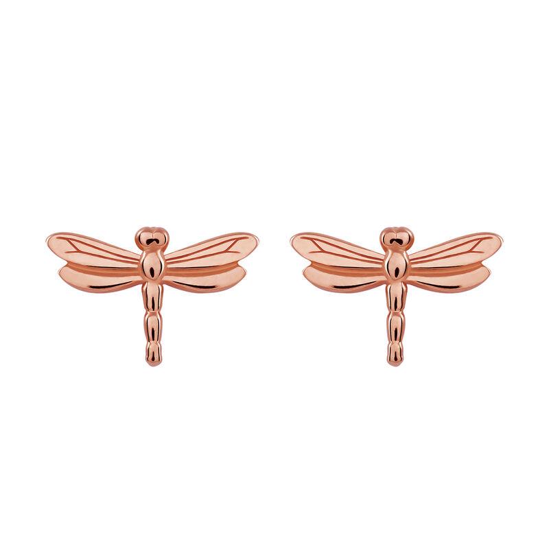 Pendientes libélula oro rosa, J03180-03, hi-res