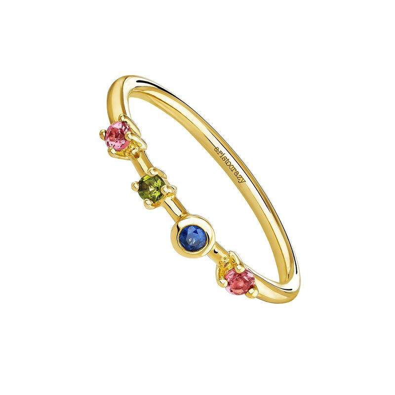 Rings tourmaline and sapphire gold, J04147-02-PTGTBS, hi-res