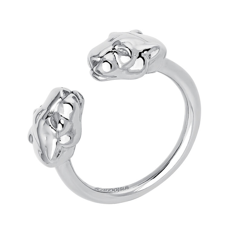 Silver panther ring, J04193-01, hi-res