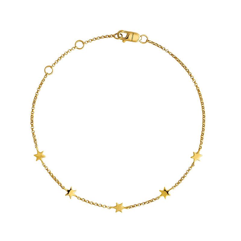 Gold bracelet with stars, J04012-02, hi-res