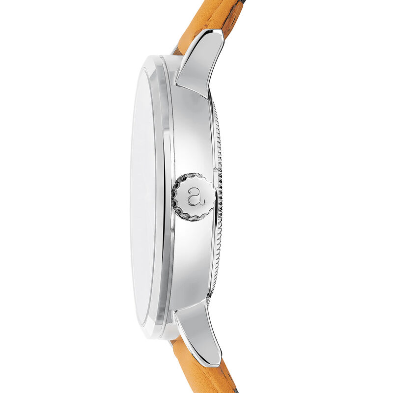 Brooklyn watch mustard strap, W45A-STSTWH-LEMU, hi-res