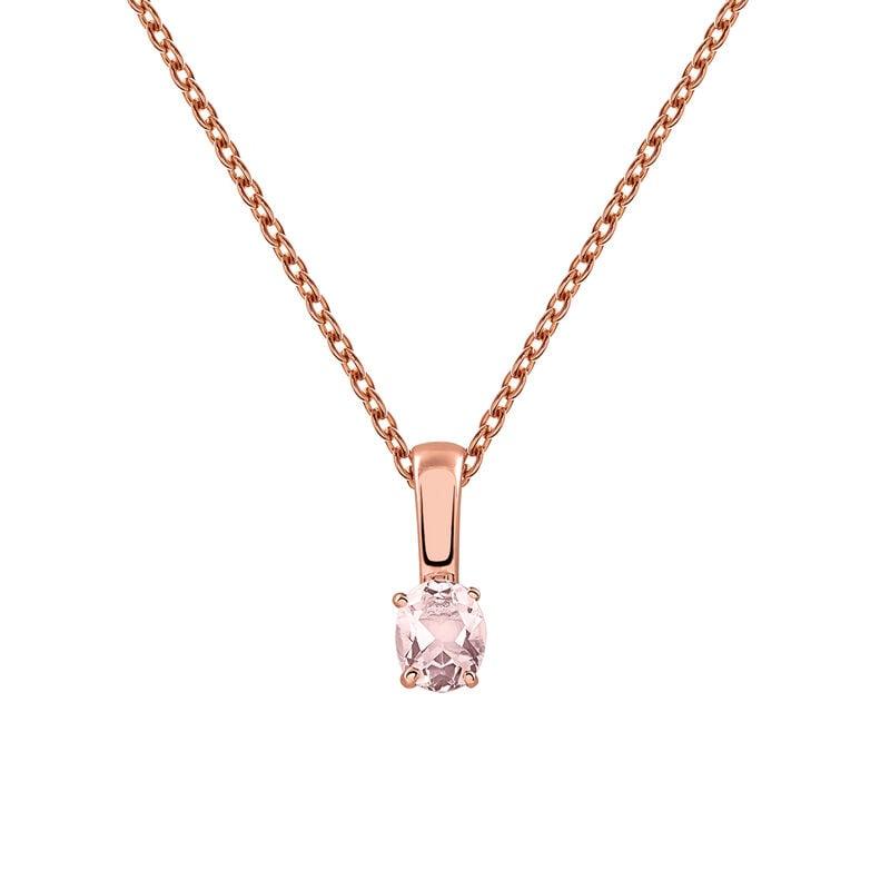 Rose gold plated pink quartz necklace, J03281-03-PQ, hi-res