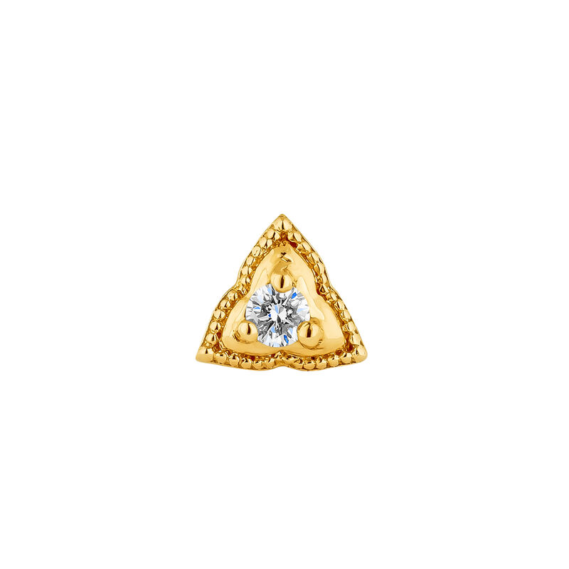 Gold triangle piercing diamond 0.012 ct., J04358-02-H, hi-res