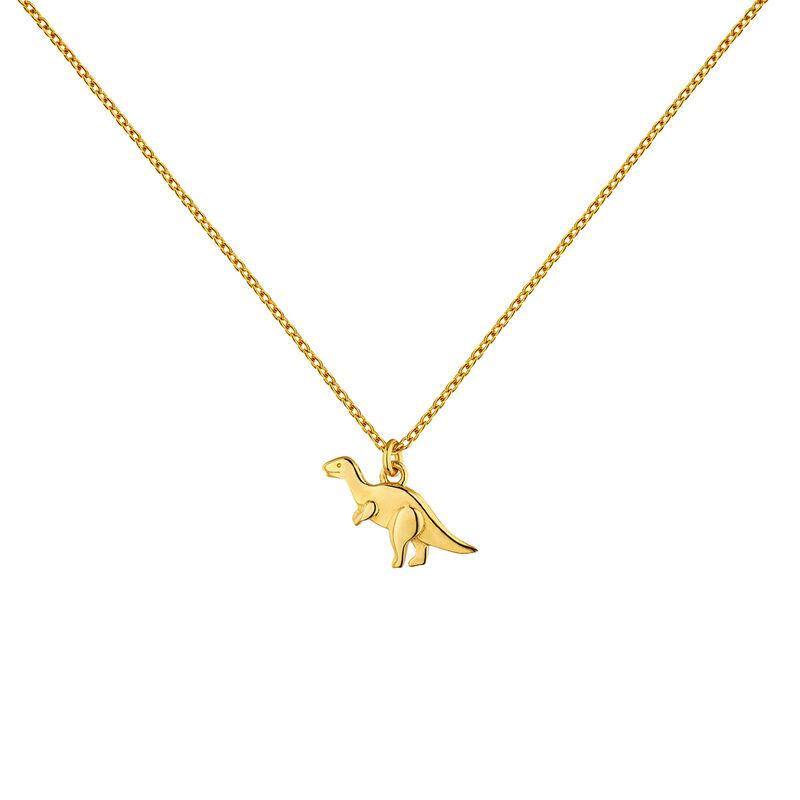 Colgante dinosaurio plata recubierta oro, J04861-02, hi-res