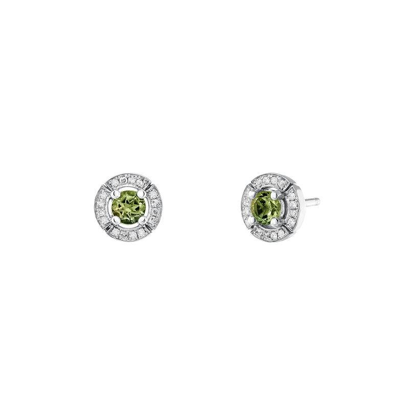 Pendientes turmalina verde diamante plata, J03770-01-GTU, hi-res