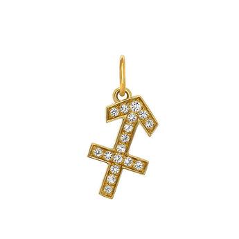 Sagittarius gold pendant, J03606-02-WT, hi-res