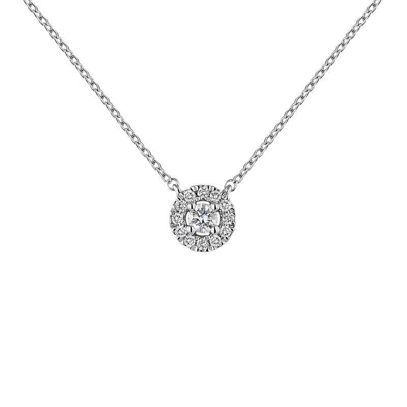 Colgante orla diamantes oro blanco 0,05 ct, J04221-01-05-05, hi-res