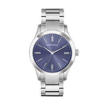 Montre Mitte bracelet en acier cadran bleu, W41A-STSTBU-AXST, hi-res